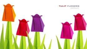Flores del tulipán de Origami Imágenes de archivo libres de regalías