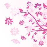 Flores del vector en color de rosa libre illustration