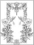 Flores del verano: amapola, narciso, anémona, violeta, en botánico ilustración del vector