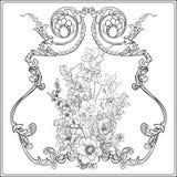 Flores del verano: amapola, narciso, anémona, violeta, en botánico libre illustration
