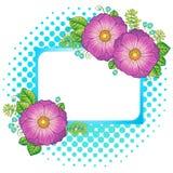 Flores del verano Elementos aislados vector Vector la imagen para la impresión en la ropa, materias textiles, carteles, invitati stock de ilustración
