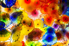 Flores del vidrio de Bellagio Imagenes de archivo