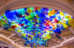 Flores del vidrio de Bellagio Fotos de archivo