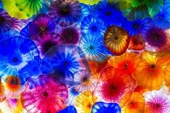 Flores del vidrio de Bellagio Foto de archivo libre de regalías