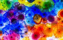 Flores del vidrio de Bellagio Imágenes de archivo libres de regalías