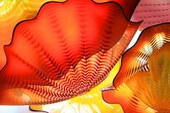 Flores del vidrio de la decoración de la azotea Imagenes de archivo