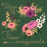 Flores del vintage. Flor linda para el diseño Fotos de archivo