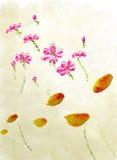 Flores del Water-colour Imagenes de archivo