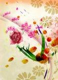 Flores del Water-colour Foto de archivo libre de regalías