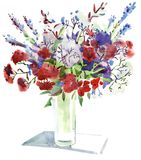 Flores del Watercolour Fotografía de archivo libre de regalías