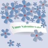 Flores delicadas para la tarjeta de felicitación Imágenes de archivo libres de regalías