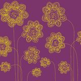 Flores desenhadas mão Imagem de Stock