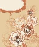 Flores desenhadas mão da fantasia ilustração stock