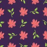Flores desenhados à mão bonitas simples fotografia de stock royalty free