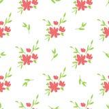 Flores desenhados à mão bonitas simples fotos de stock royalty free