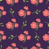 Flores desenhados à mão bonitas simples Imagens de Stock