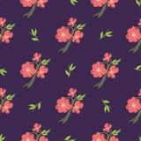 Flores desenhados à mão bonitas simples fotos de stock