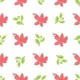 Flores desenhados à mão bonitas simples imagem de stock
