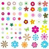Flores diferentes ilustração royalty free