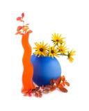 Flores do amarelo da camomila fotos de stock royalty free