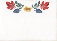 Flores do bordado. foto de stock royalty free