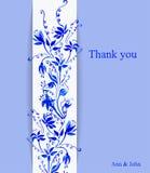 Flores do cartão watercolor Imagem de Stock