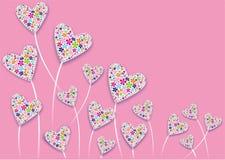 Flores do coração Fotografia de Stock
