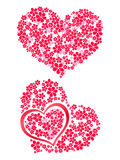 Flores 3 do coração Imagens de Stock