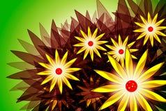 Flores do desenhador Imagem de Stock Royalty Free