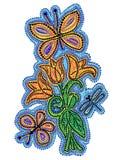 Flores do desenho Fotografia de Stock Royalty Free