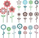 Flores do divertimento ajustadas Fotografia de Stock