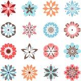 Flores do divertimento ajustadas Imagens de Stock Royalty Free