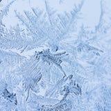 Flores do gelo no vidro - textura Fotografia de Stock
