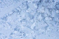 Flores do gelo no vidro - textura Fotos de Stock