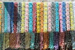 Flores do laço de matéria têxtil para a decoração Foto de Stock
