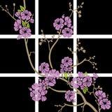 Flores do ornamento Fotografia de Stock Royalty Free