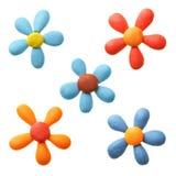 Flores do Plasticine fotos de stock royalty free