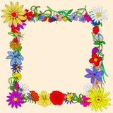 Flores do quadro Foto de Stock