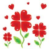 Flores do Valentim Foto de Stock