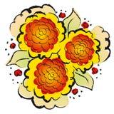 Flores do vetor Fotos de Stock