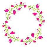 Flores do vetor ajustadas Coleção floral colorida com folhas e f Imagens de Stock