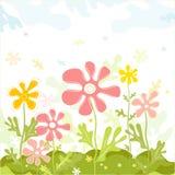 Flores do vetor da mola Fotografia de Stock Royalty Free