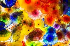 Flores do vidro de Bellagio Imagens de Stock