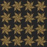 Flores do vintage do ouro, ornamento sem emenda Vetor ilustração royalty free