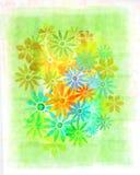 Flores do watercolour do vintage Fotos de Stock Royalty Free