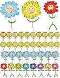 Flores dos desenhos animados. Imagens de Stock