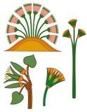 Flores dos lotos do ornament& de Egipto Fotos de Stock