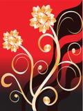 Flores douradas Imagens de Stock Royalty Free