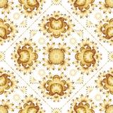 Flores douradas no fundo branco Fotos de Stock