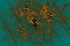 Flores e anéis abstratos do fractal ilustração stock
